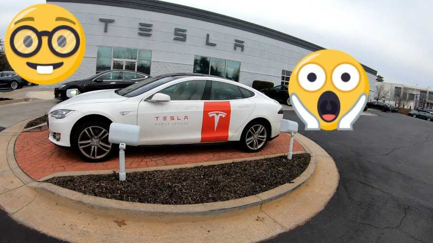 Tesla Model S As Mobile Service Vehicle Spotted On East Coast