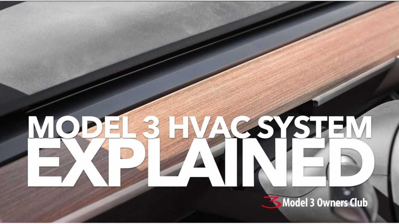 Tesla Model 3 HVAC System in Detail - Video