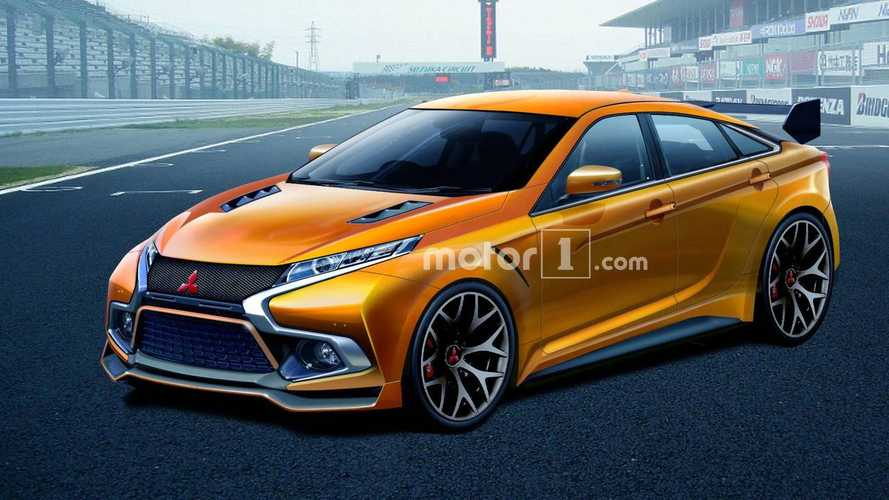 Next-Gen Mitsubishi Evo Rendered In Pure Electric Form