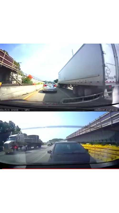 Autopilot Emergency Braking Prevents Tesla Model S Collision - Video