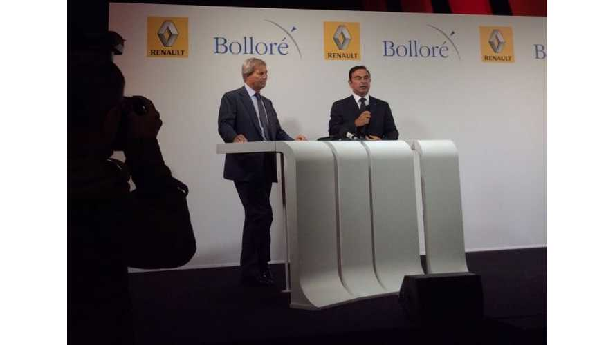 Renault and Bolloré Form Partnership For Electric Vehicles
