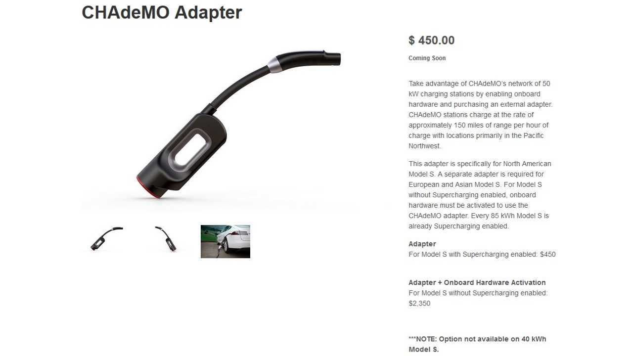 Tesla CHAdeMO Adapter - Despite The -Coming Soon- Status, We Can Now Confirm That Tesla Is Shipping These Adapters