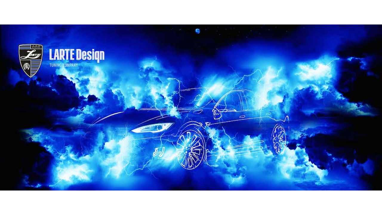 Larte Design Teases Modified Tesla Model S P85D Ahead Of Reveal At Top Marques Monaco 2015
