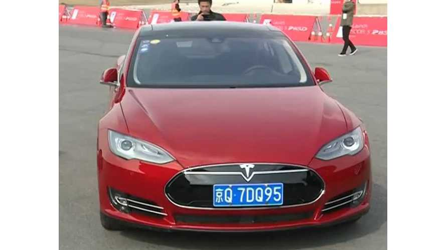 Tesla Delivers First Batch Of Model S P85Ds In China - Video