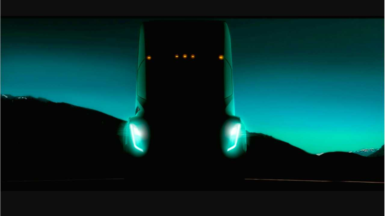 First Look At Tesla's Electric Semi-Truck, Which Can Be Driven Like A Sports Car