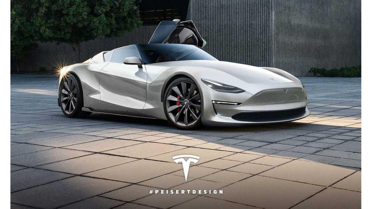 Next-Gen Tesla Roadster Rendered - (w/video)