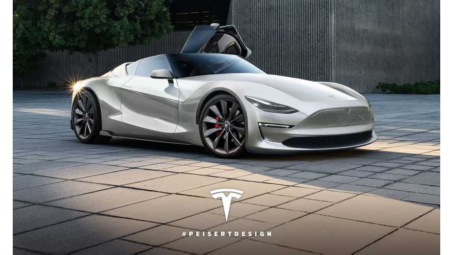 Next-Gen Tesla Roadster Rendered - (w/video)
