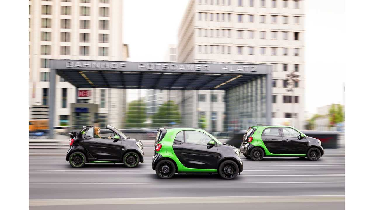 smart electric drive cabrio, fortwo and forfour