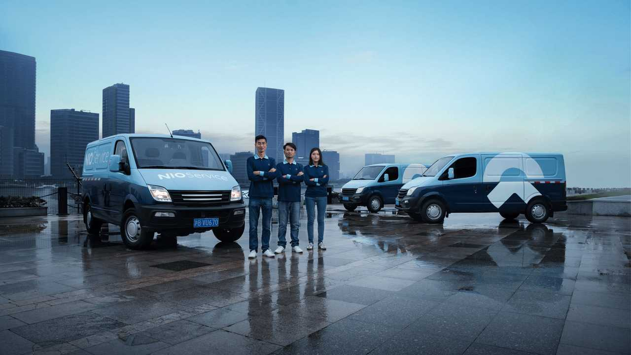 Nio offers van-based remote service and concierge charging.