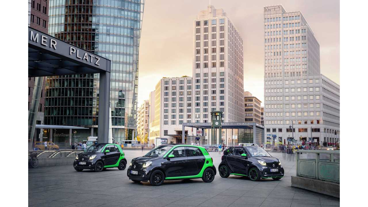 smart electric drive fortwo, forfour and cabrio