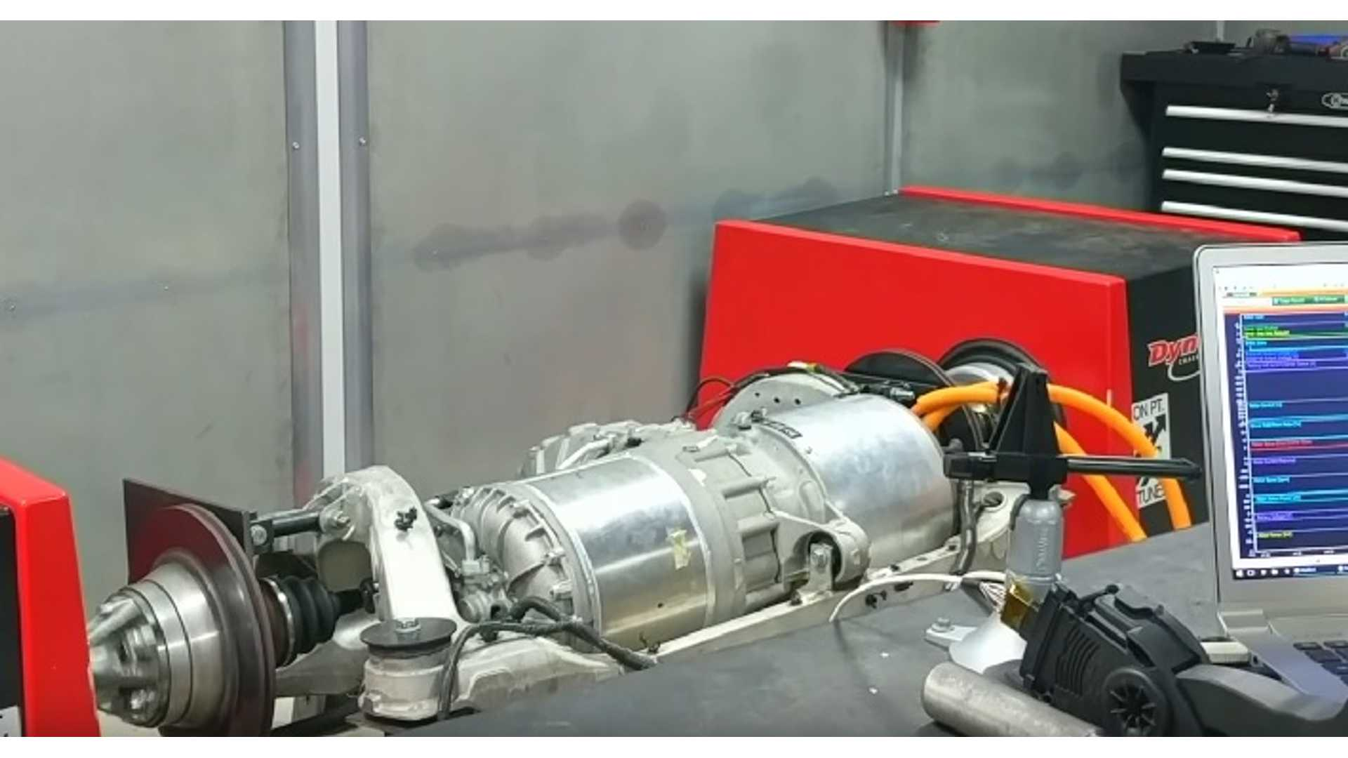 Tesla S Electric Motor Hits The Dyno As Part Of Blue Lightning Lotus Conversion Video