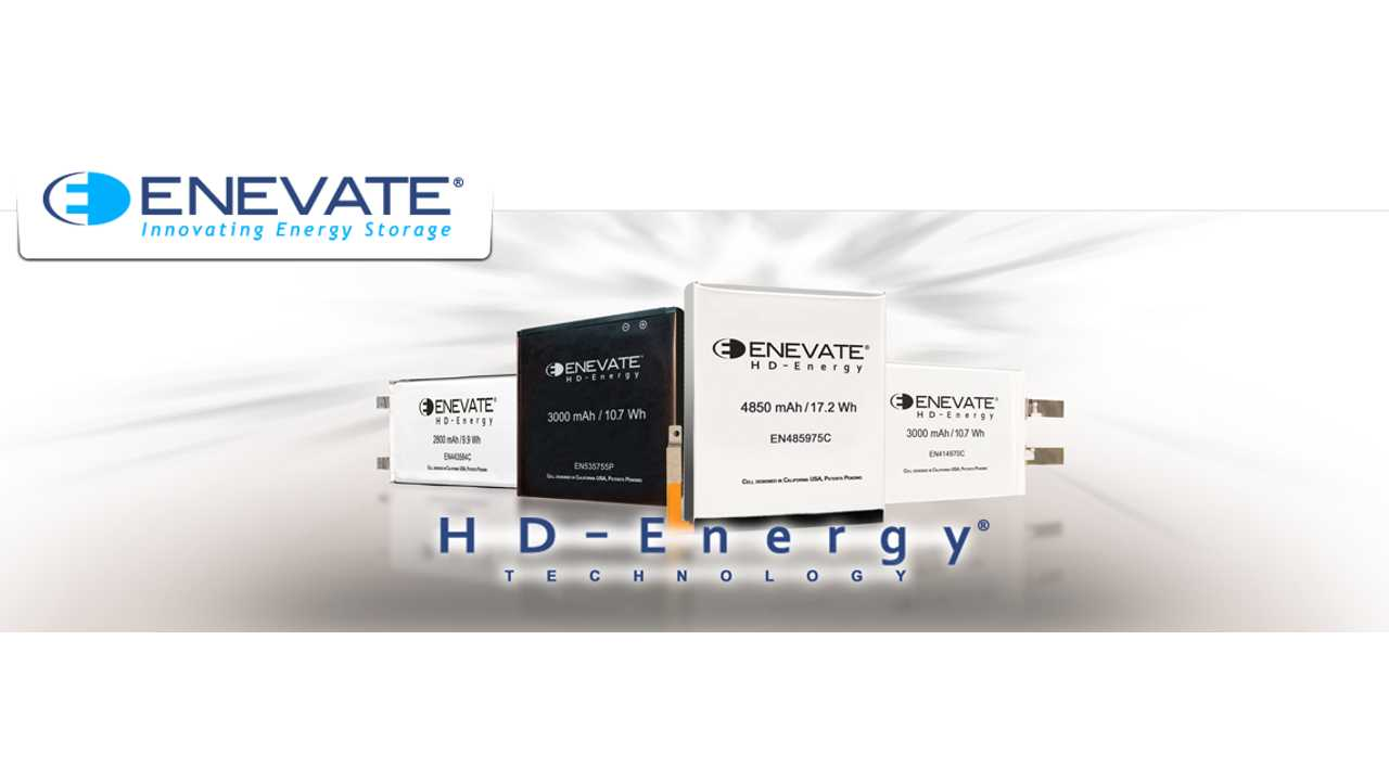 Enevate HD-Energy Battery - 90% Charge In 15 Minutes (4C Rate)