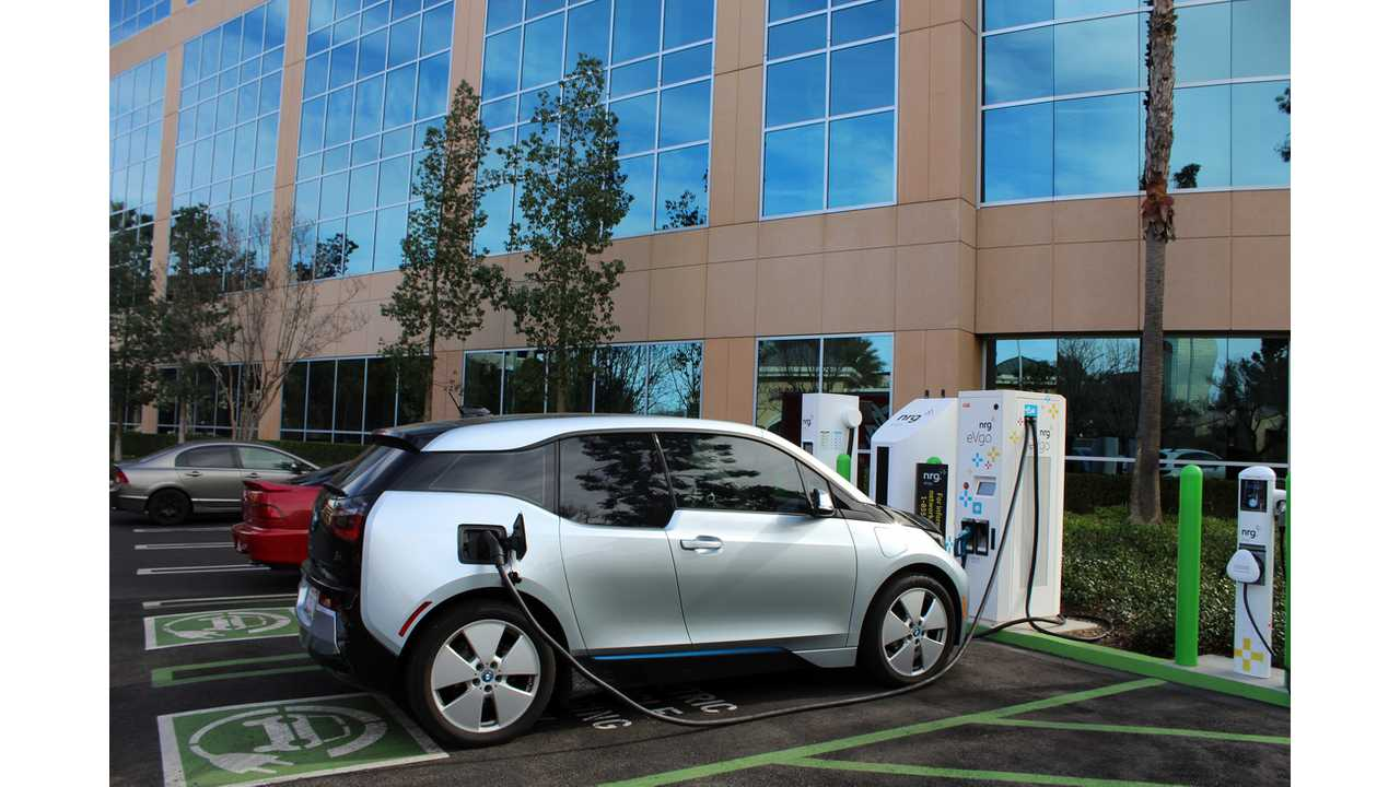 BMW i3 at Combo DC fast charger