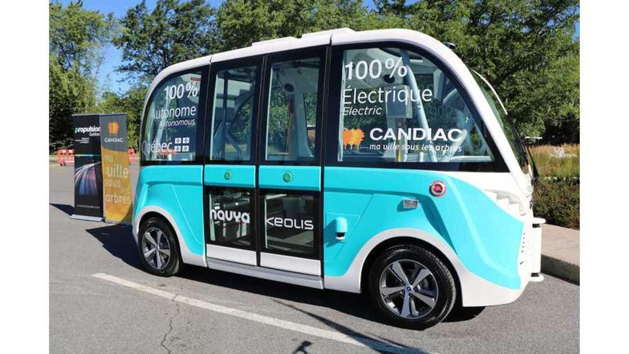 Autonomous Electric Shuttle Enters Service In Quebec