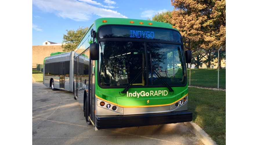 IndyGo Adds First BYD Electric Bus