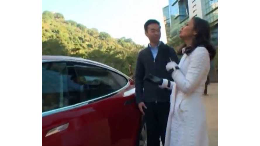 Tesla Model S Test Driven By Bloomberg In Hong Kong - Video