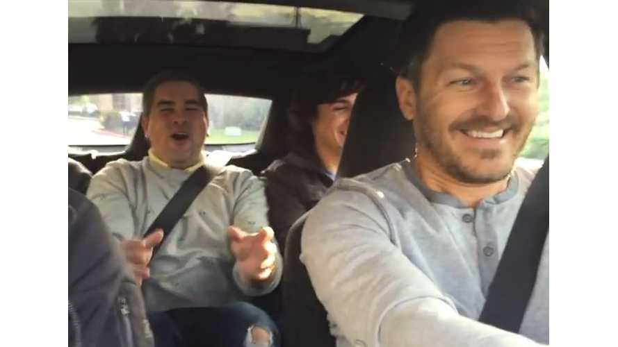 Insane Reactions To Tesla Model S P85D Launch - Video