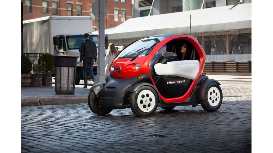 "Nissan Demonstrates ""micromobility"" In New York"