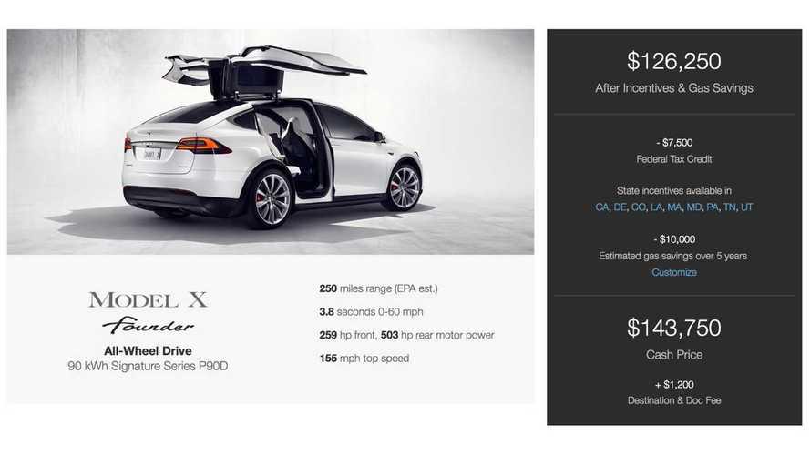 Tesla Model X Signature/Founder's Online Configurator Walk Through - Video