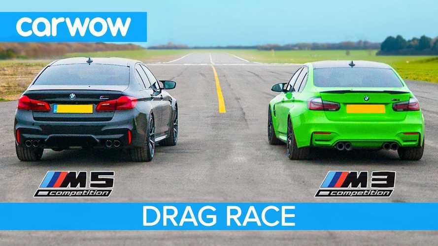 Tuned BMW M3 Competition Vs M5 Competition Drag Race