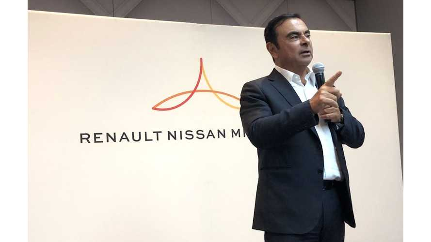 Ghosn - Renault-Nissan-Mitsubishi Alliance Are Only Automaker Profiting On EVs