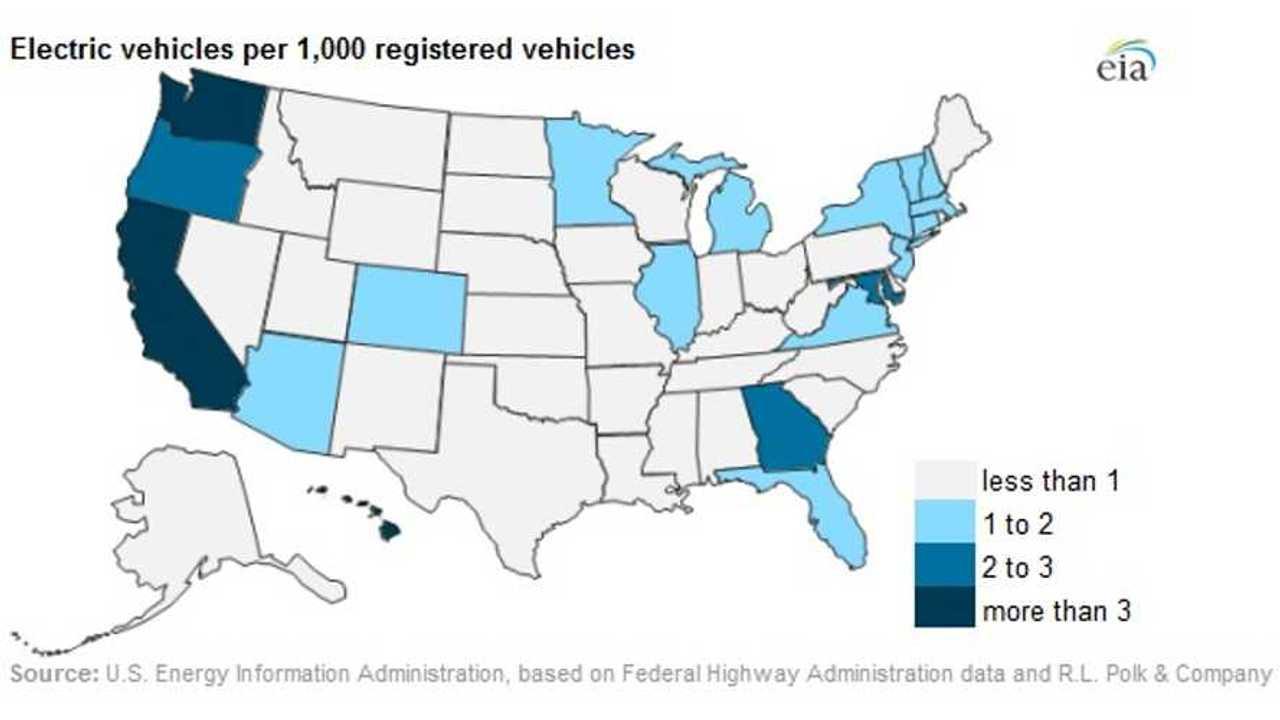 U.S. Electric Vehicle Density Map