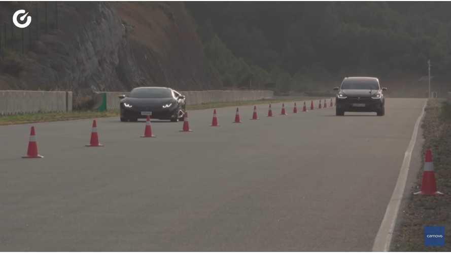 Watch Lamborghini Huracan Race Tesla Model X