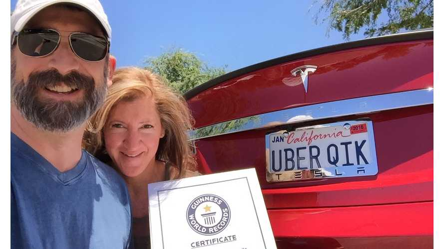 Guinness Recognizes Team Uber Qik's Tesla Model S World Record