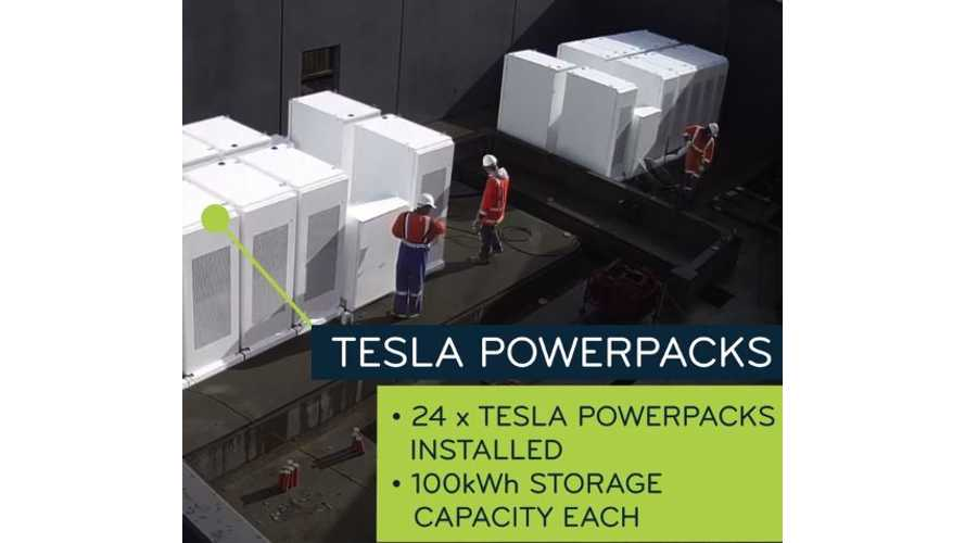 Time-Lapse Video Of Tesla Powerpack Installation