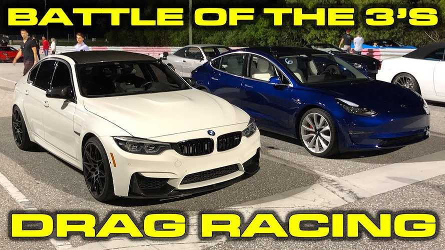 DragTimes Pits Tesla Model 3 Performance Against BMW M3
