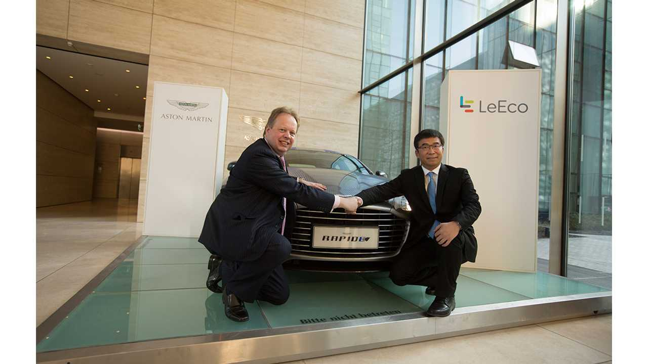 Aston Martin Teams With Faraday Future & LeEco To Develop First Electric Car - Video