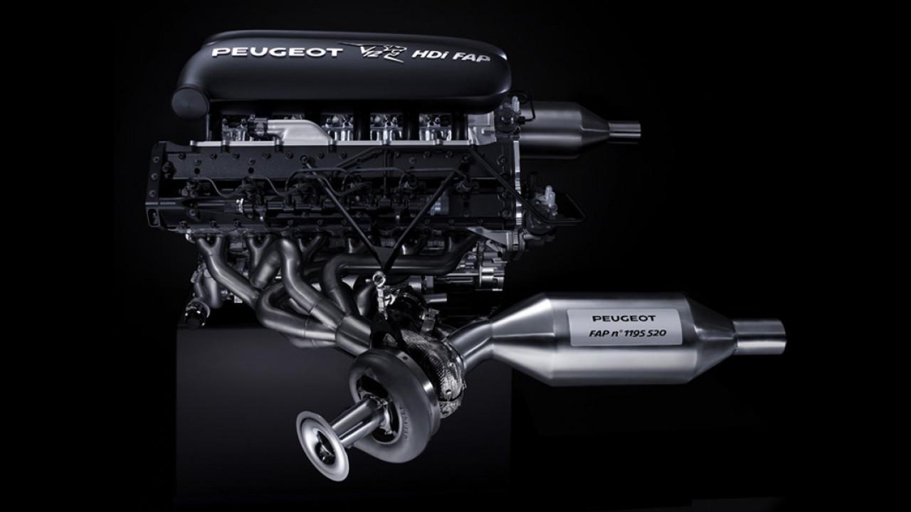 Un V12 HDi FAP per la Peugeot 908
