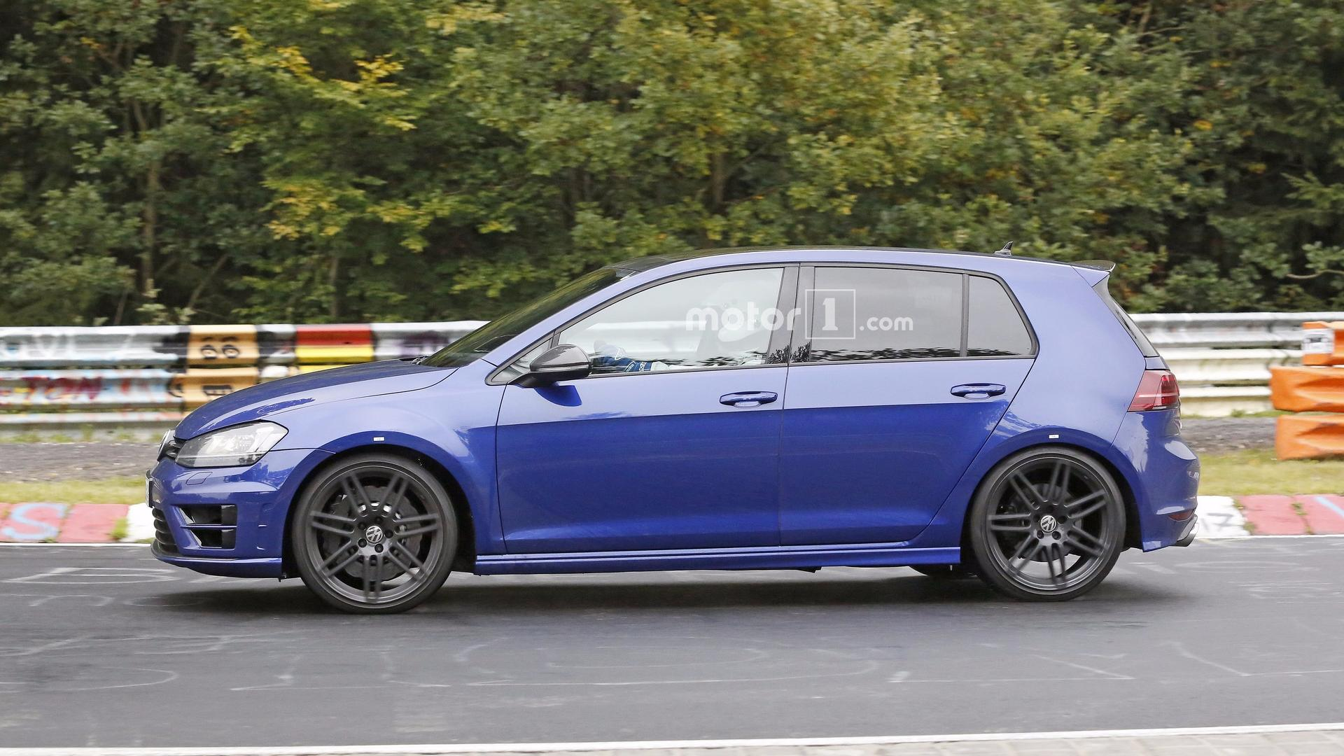 possible vw golf r420 spied in action testing 5 cylinder engine