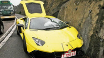 Lamborghini Aventador LP 720-4 50 Anniversario crash in Hong Kong