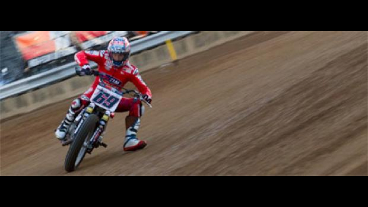 A Indy Nicky Hayden sull'ovale di dirt-track