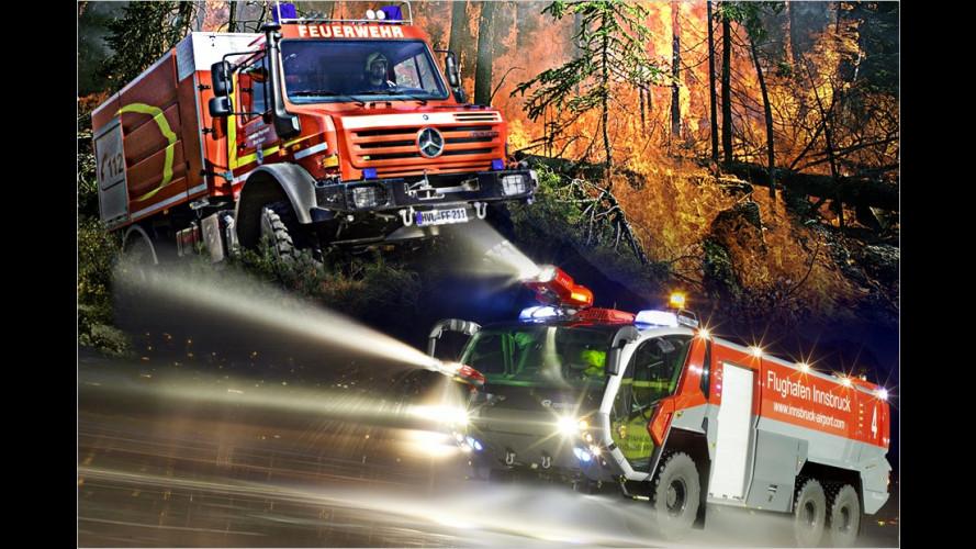 Wasser marsch: Coole Feuerwehrautos für heiße Einsätze