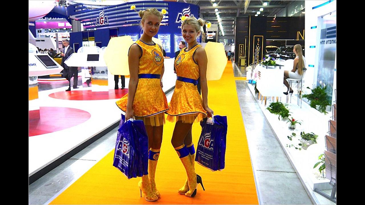 Zwei Salon-Löwinnen auf Shopping-Tour