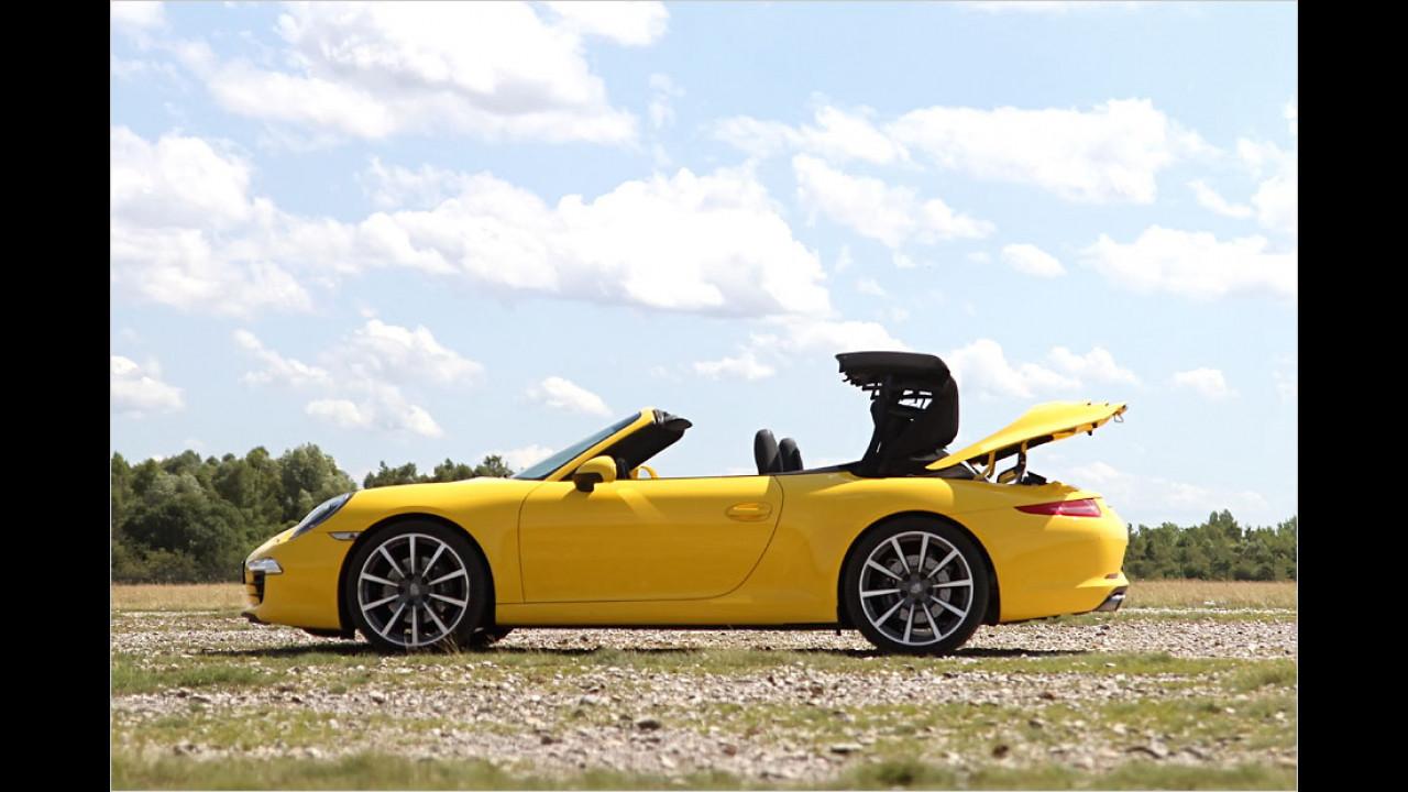 Porsche 911 (13 Sekunden, bis 50 km/h)