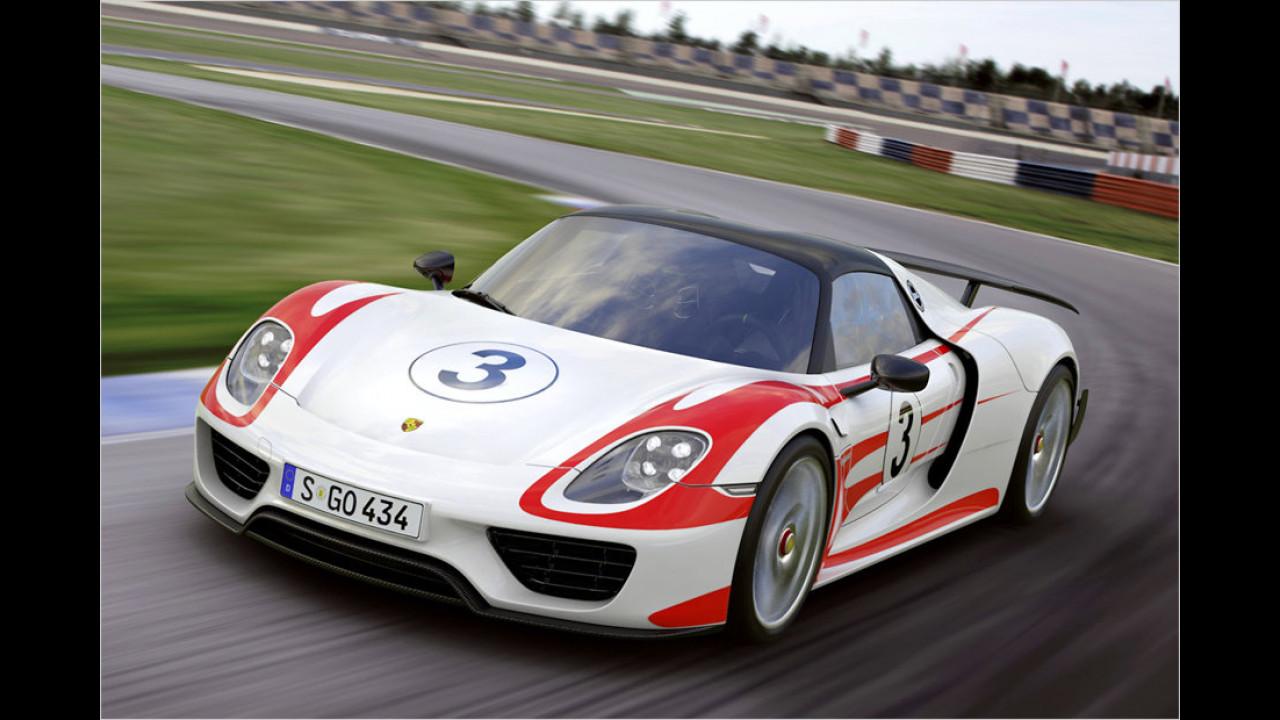 Porsche 918 Spyder: 6:57 Minuten (schnellstes Serienfahrzeug mit Straßenzulassung)