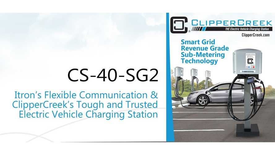 ClipperCreek And Itron Introduce CS-40-SG2, A Not Dumb Charging Station