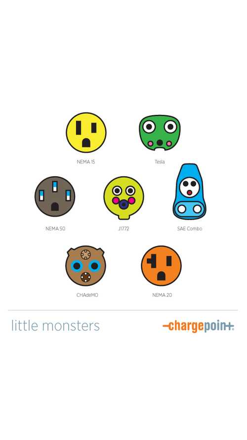 ChargePoint Introduces Us To The Little Monsters Of Plug In Electric Vehicle Charging