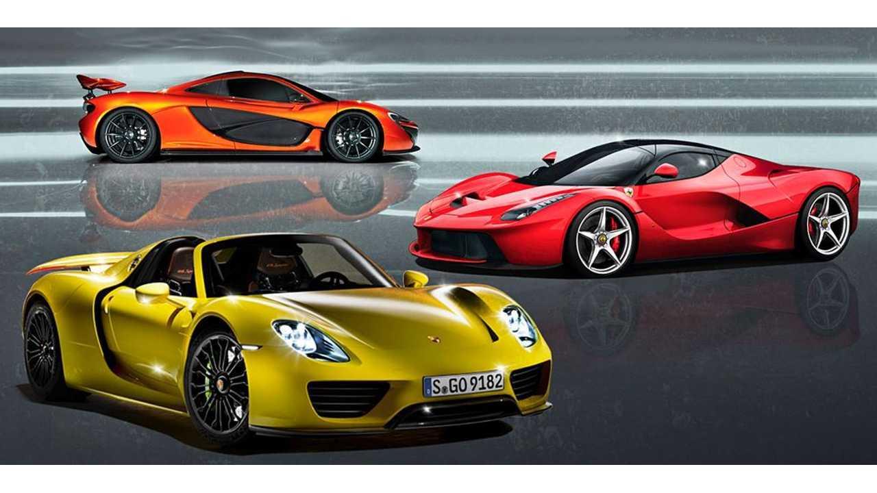Porsche 918 Spyder Versus McLaren P1 Versus Ferrari LaFerrari