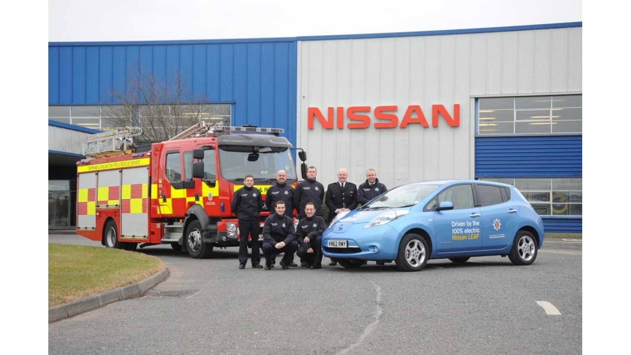 Nissan LEAF Gears Up for Firefighter Duty in UK