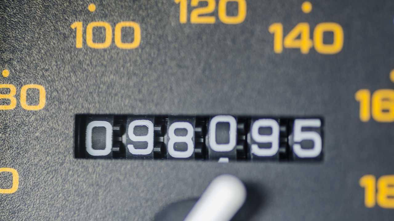 Closeup of odometer