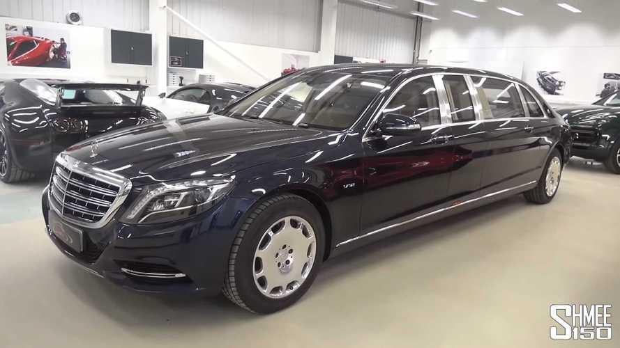 Mercedes-Maybach S600 Pullman'ın içerisine yakından bakın