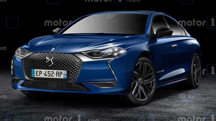 DS 8 Rendered As Stylish Sedan Of The French Future