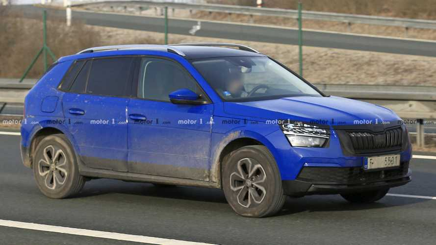 Euro Skoda Kamiq Spied With Weird Camouflage