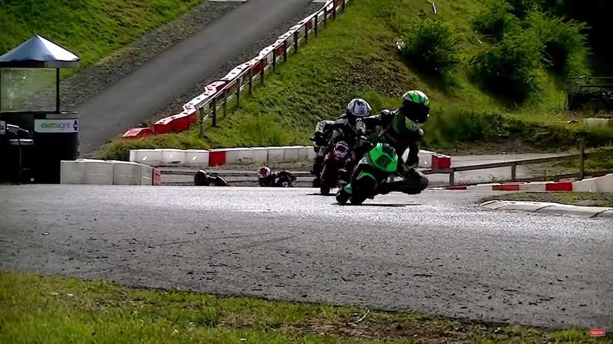 Crashing Is No Laughing Matter Unless It's On A Minibike