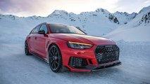Kırmızı Renkli Bir ABT Audi RS4+ Avant Alp'lerde