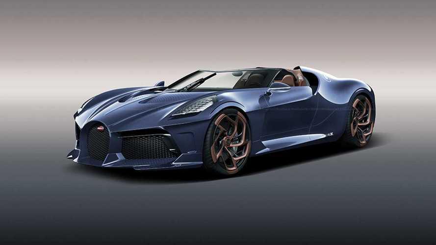 La Bugatti La Voiture Noire imaginée en version roadster